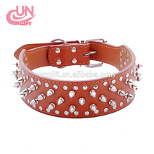 Sharp Spiked PU Leather Studded Durable Large Dogs Gifts dog pet collars