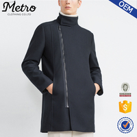 Top Quality Thin Warm Navy Blue Mens Used Long Winter Coats