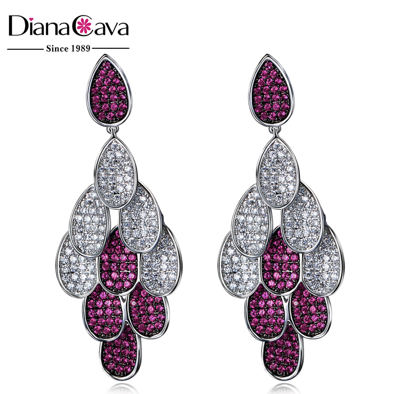 Party Jewellery for Girls Color Wedding Luxury Cubic Zircon Ladies Earrings Designs Picture