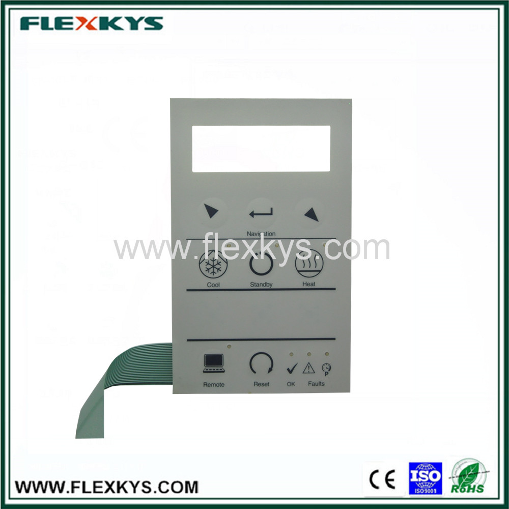 Home appliance application autotype PET Keypad button material stock membrane switch