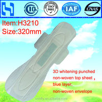 night used 320mm cheap anion love moon sanitary napkins mesh and cotton