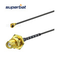 Waterproof IPEX / U.FL To SMA Bulkhead 1.13mm/1.37mm Jumper Antenna Cable Assembly RF Pigtail Cable