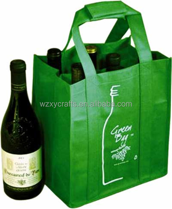 Soft-loop new design cheap non woven wine/beer carry bag