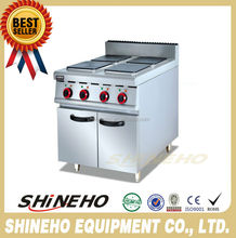 W082 Commercial Electric Range With 4 Cookers/Electric range with cabinet/four hot-plate electric range