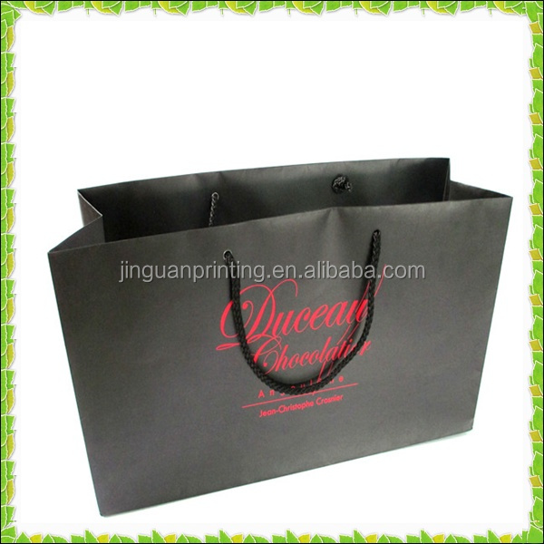 High quality garment paper bags optical design,handmade paper bag design