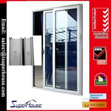 China factory thermal break tempered double glazed sliding door closing device