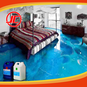 Top Glossy Brightness Epoxy AB Resin for Floor 3D Coating, Liquid 3D Floor Painting
