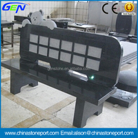 Black Granite Headstone Benches For Gravestone & Headstone