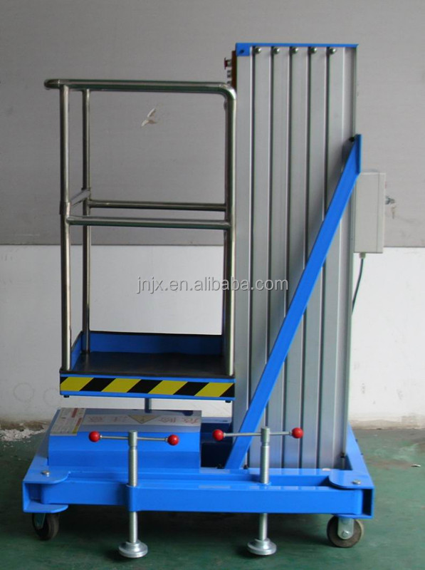 Single post lift window cleaning equipment one person lift