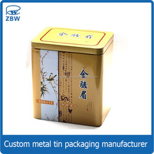 Simple style Chinese cheap balck tea tin can for food packaging