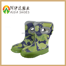 kids cute cartoon waterproof soft rubber sole snow boots