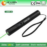 50mw 532nm burning green beam laser pointer with key and extensible tube