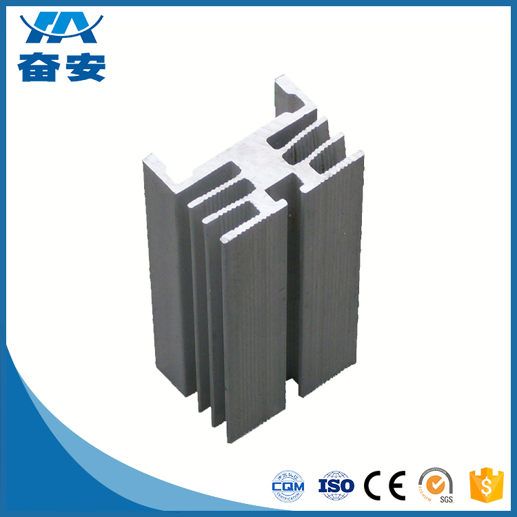 6000 Series Grade extrusion deep processing aluminum solar panel clamp profile
