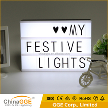 DIY Free Combination LED Letters Lamp Cinematic LED Plastic Light Box Spell Your Own Message LED Lighting Display