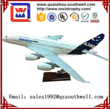 100% hand made customized model plane airbus A380 plane model