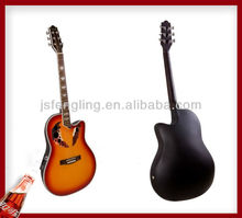 plastic round back acoustic guitar