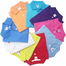 most fashion new design cotton blank pullover polo neck t shirt