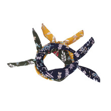 New Baby Floral Printed Knot Accessories for Girl Baby Nylon Turban Headband