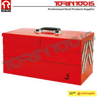 Wholesale Outside Waterproof Red Steel Hard Case Tool Box