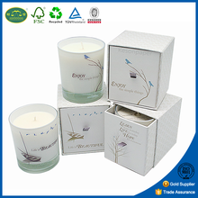 Custom printed luxury gift candle packaging boxes