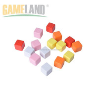 Customized Design Are Acceptable 25mm Plastic Blank Game Dices