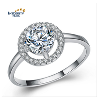 SSD031 Fine Zircon 925 Sterling Silver Jewelry Ring