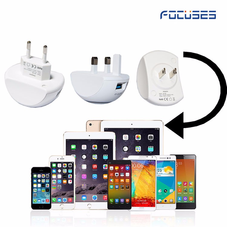 CE ROHS FCC UL! Ac to dc US UK 3pin EU plug 2A 2 usb ports wall travel adapter for iPhone/Samsung/Xiaomi phone charger