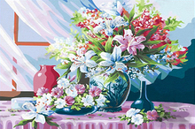 Acrylic paint diy oil painting by numbers for decorate wholesale