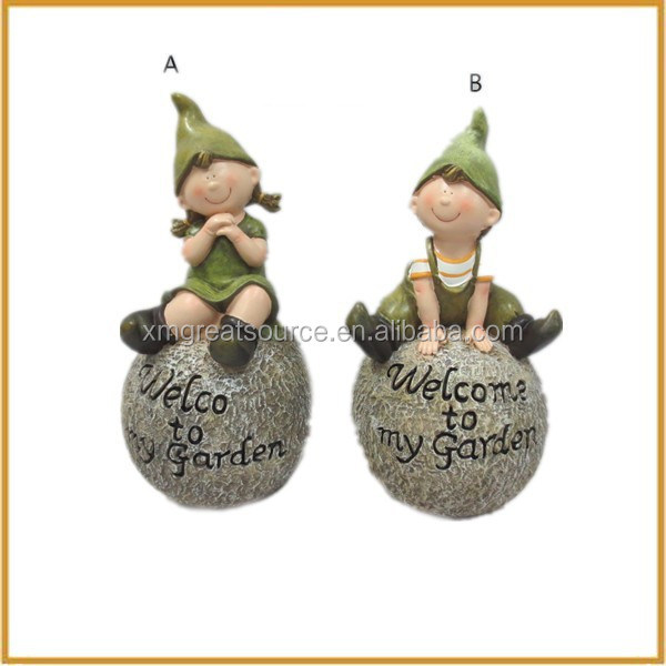 wholesale polyresin elf fairy figurines for garden decorative