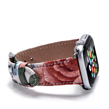 2019 New Color For Apple Watch Band 42mm 38mm Leather Band Watch Smart