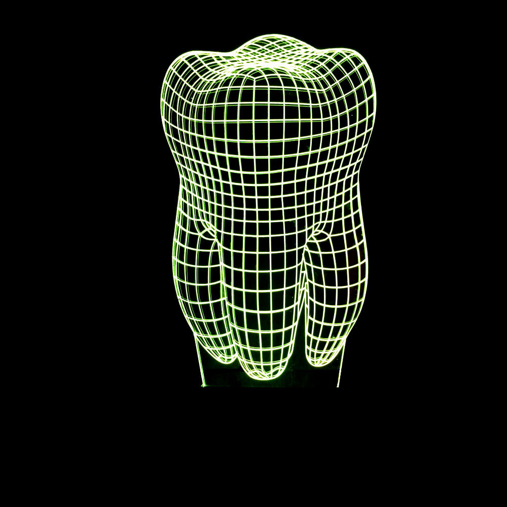 Zogift Teeth tooth shape colorful Night light 3D LED dental tooth table lamp