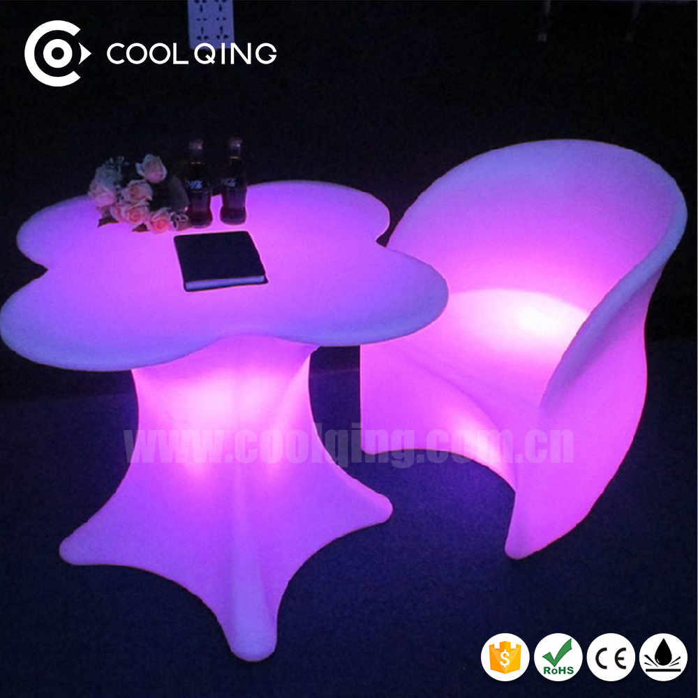 New design LED Pandora light up coffee table and chairs with remote control