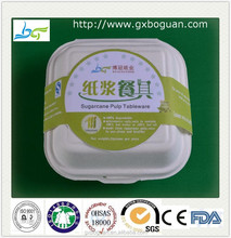 Healthy and green food grade paper pulp take away food container