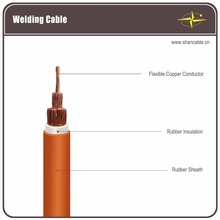 Low voltage heavy duty welding cable