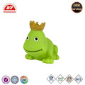 plastic crown frog bath toy