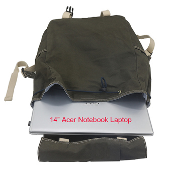 Canvas Bag Manufacturer Supplier Customizes Waxed Unisex Backpack Waterproof School