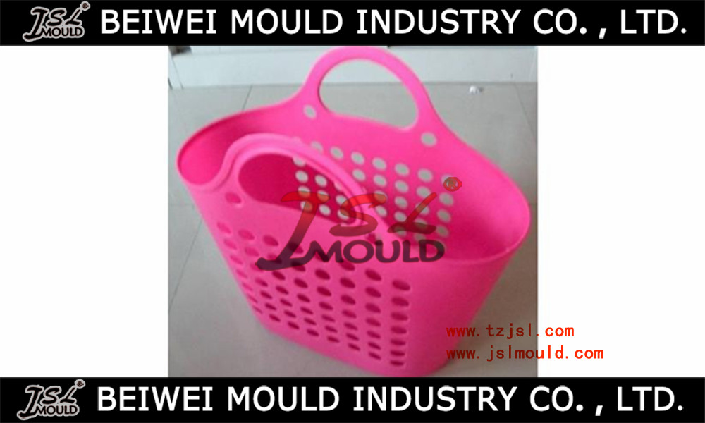 New Design Injection Plastic basket mould with handle