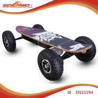DIY electric skateboard 1200W brushless big tyre off road e skateboard