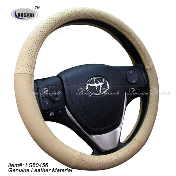 2017 Classic Real Leather Steering Wheel Cover