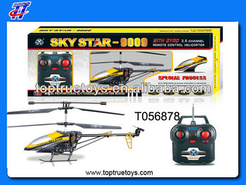 2013 Hot Sale 3.5 ch big metal 3D rc toys helicopter w/gyro,light
