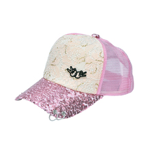 Best price high quality lace scale mesh fashion hats snapback for women