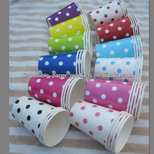 Wholesale 2400 x Spots Spotty Dots Polkadot Paper Party Cups Red Blue Yellow Lime Green Pink for Birthday, Baby shower, Wedding