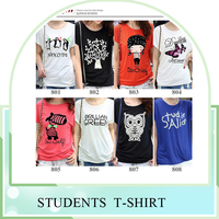 Factory wholesale summer short sleeve t shirt for girls top clothes blew one dollar