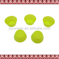 Round shape silicone cupcake molds