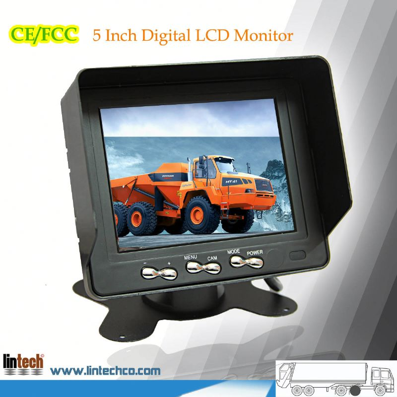 5 inch car roof mount lcd monitor with tv