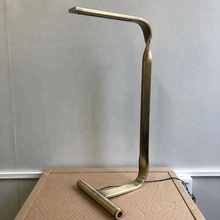 Twisted Metal Flat Tube Modern LED Desk Lamp