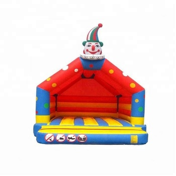 Inflatable bouncer with blower for outdoor sport