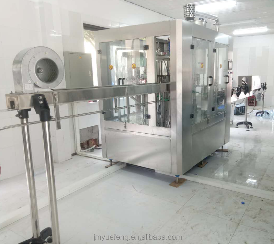 250-1500L mineral water bottle filling production line/automatic 3IN1 small bottle pure water filling equipment /system/machine