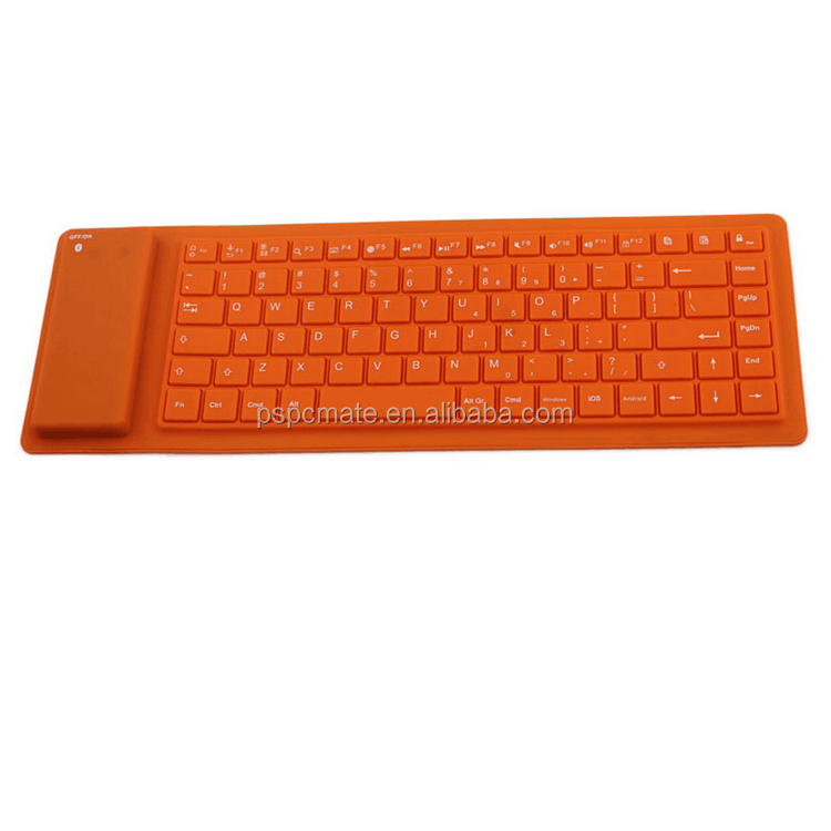 Wireless Flexible Roll up Keyboard ,Portable Silicone Rollup Waterproof Wireless Keyboard For IOS Windows Android Tablets