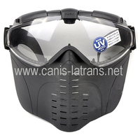 All China Made Paintball Full Face Clear Goggle Protector Mask With Fan CL9-0009